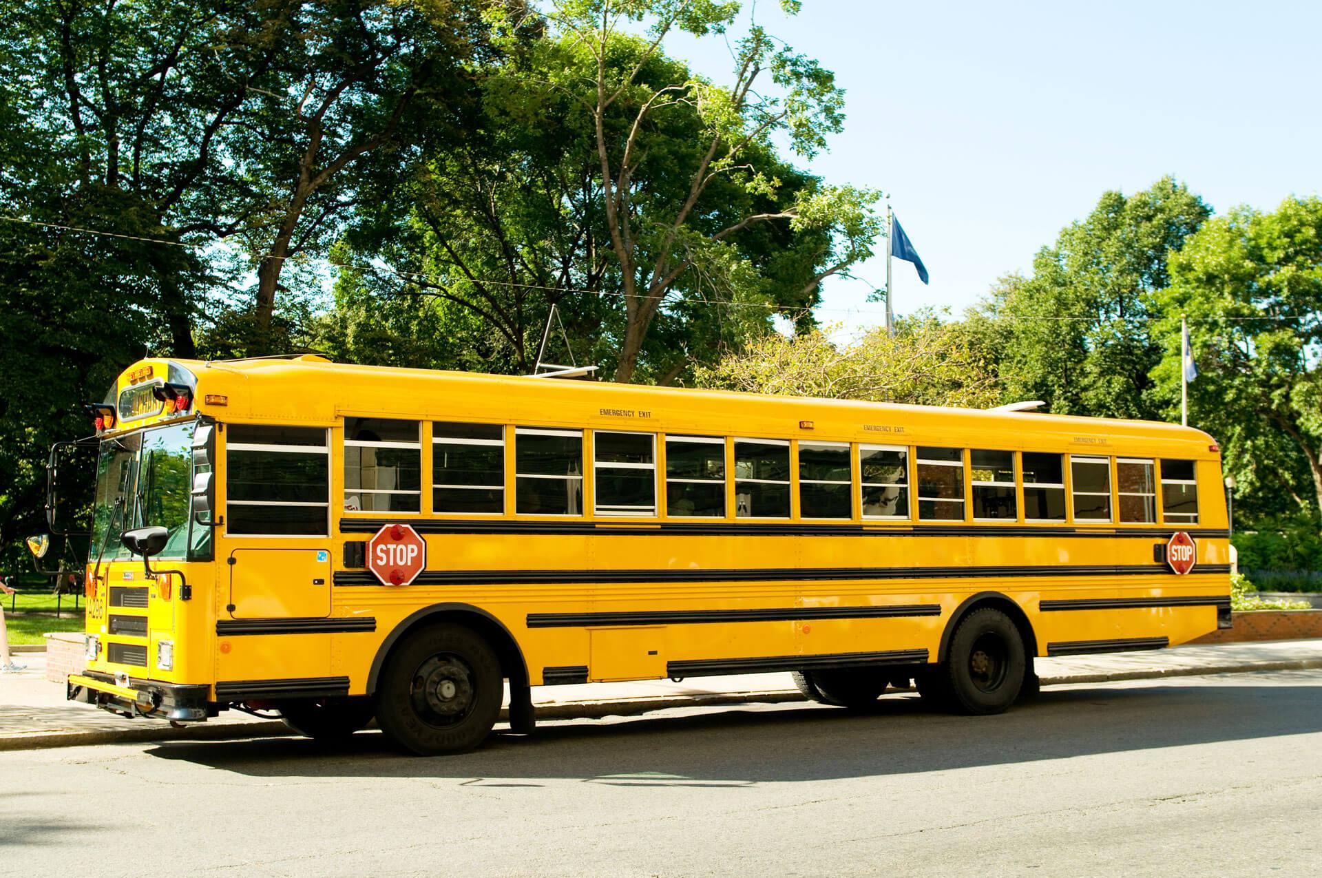 school bus towing